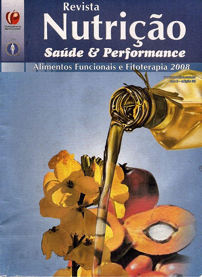 revista nutrição saúde e performance 2008